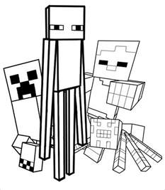 Minecraft Character Drawing Template by Minecraft Coloring Pages 21 Free Printable Word Pdf