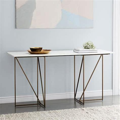 brass key desk marble brass geo desk elm