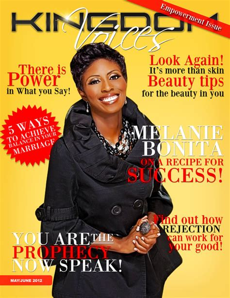 melanie bonita amazon best seller kingdom voices magazine cover girl