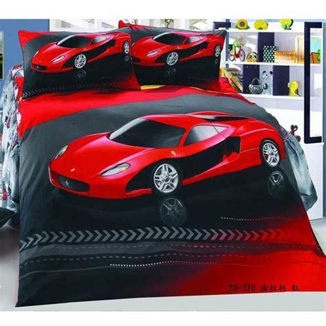 car bedding red car cool cotton children bedding set kid nursery