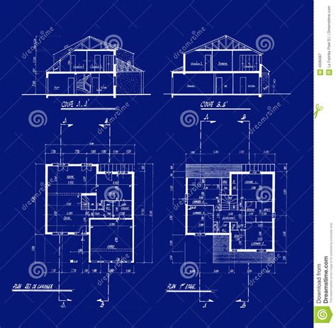 house blueprints royalty  stock photography image