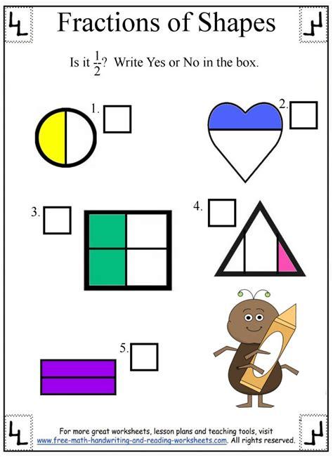 reading fractions worksheet fractions of shapes worksheets practice test simple shapes fractions worksheets fraction