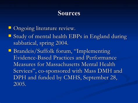 Implementing Evidence Based Practice A Review Of The Empirical Research Literature by Implementing Evidence Based Practice Ebps In Mental Health Service