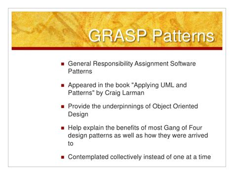 design pattern grasp how i learned to apply design patterns