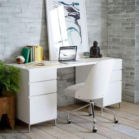 lacquer white storage desk
