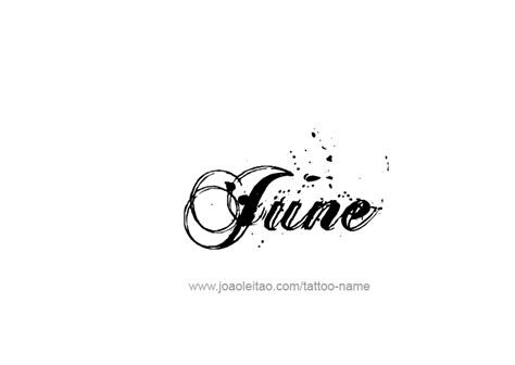 June 2015 Tattoo Designs | june month name tattoo designs tattoos with names