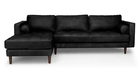 black sectionals sven oxford black left sectional sofa sectionals