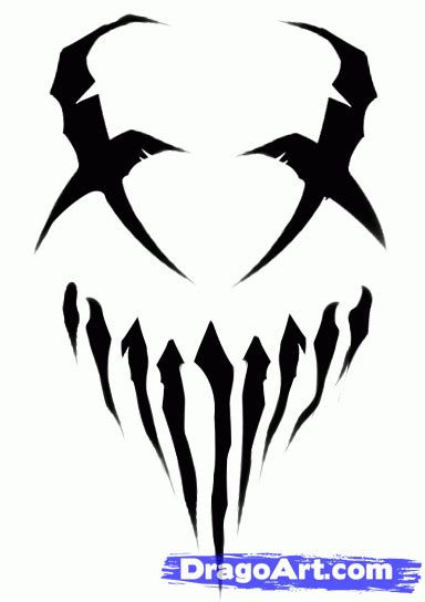 how to draw mushroomhead mushroomhead logo step by step