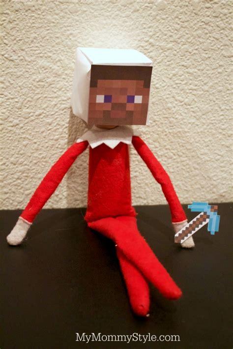 printable minecraft elf on the shelf head minecraft elf on the shelf my mommy style