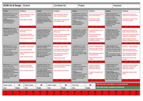 design marking criteria gcse marking grid with broken down criteria by greenj7