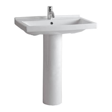 pedestal sinks rectangular basin with tubular pedestal