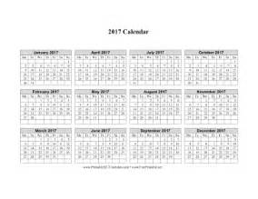 Calendar 2018 Printable Monday Start Printable 2017 Calendar On One Page Horizontal Week
