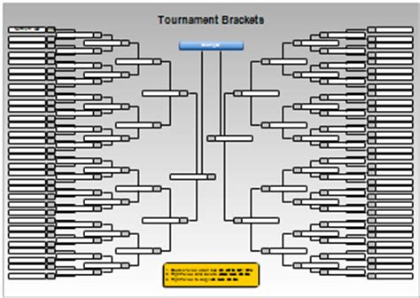 Tournament Chart Template by Tournament Charts And Bracket Charts