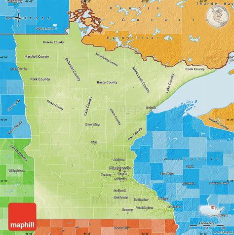 physical map of minnesota physical map of minnesota political shades outside