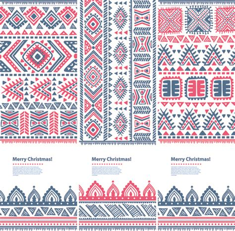 patterns christmas banners christmas ethnic pattern banner vector free vector in