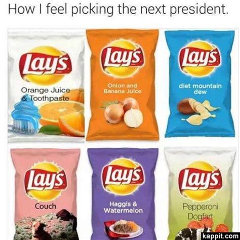 Lays Chips Meme - how i feel picking the next president