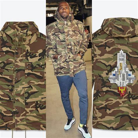 St Style style lebron laurent embellished camouflage