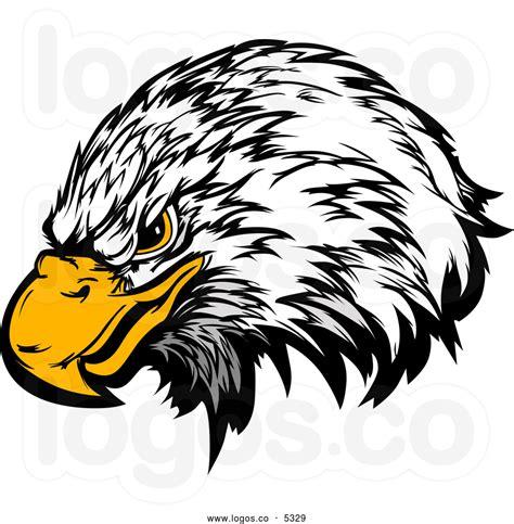 eagle head mascot clipart
