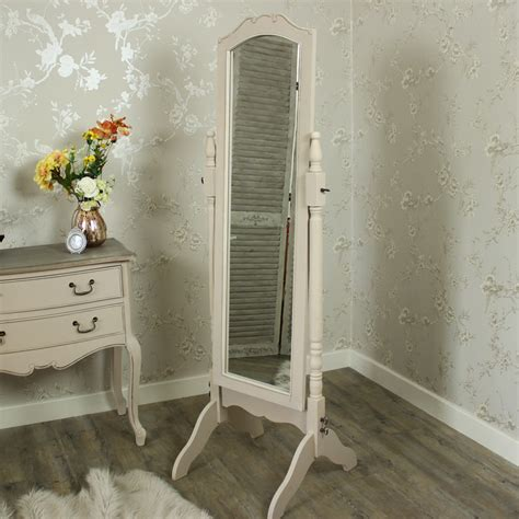 shabby chic floor standing mirror mirror cheval stand alone grey distressed shabby