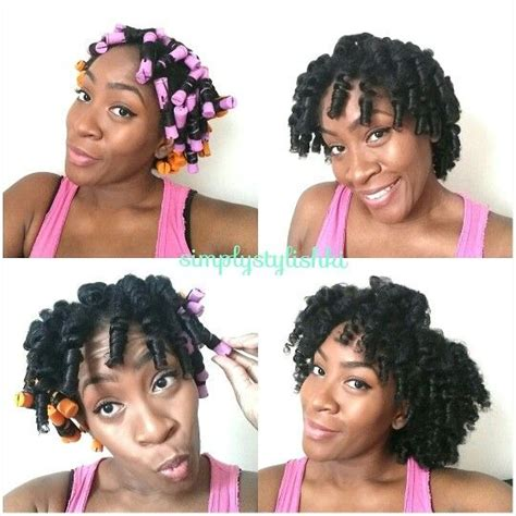 rod curl straight hair perm rod set on blown out hair curly inspirations