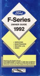 auto manual repair 1992 ford f series lane departure warning 1992 ford f series truck owner guide