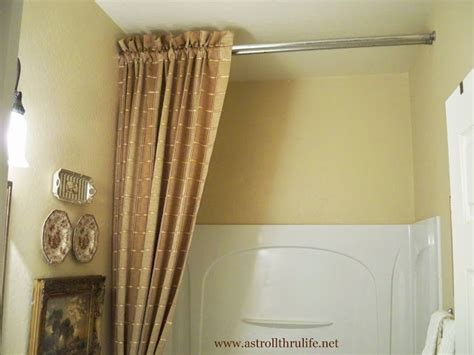 9 foot curtain rod a stroll thru life answers to how i did the shower curtain