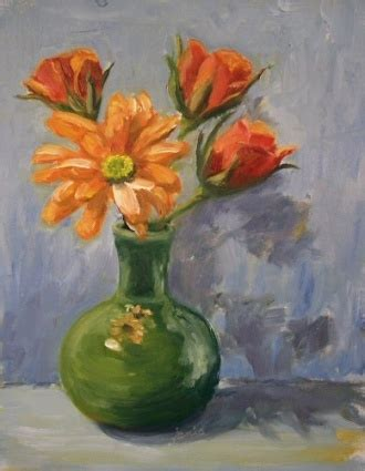 Painting Flowers In A Vase by Painting Of Vase Of Flowers Vases Sale