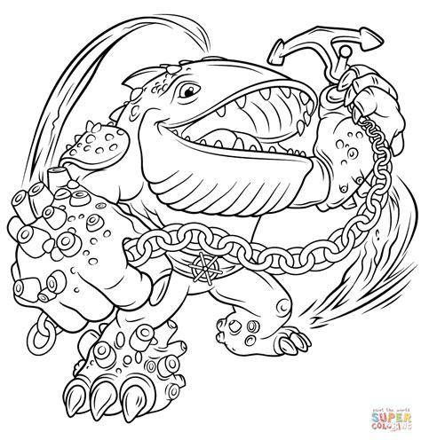 skylanders coloring pages eye brawl skylanders giants thumpback coloring page free printable
