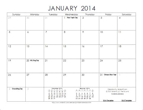 2014 free calendar template free calendar template 2014 great printable calendars
