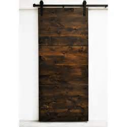 Dogberry collections modern slab wood 1 panel interior barn door