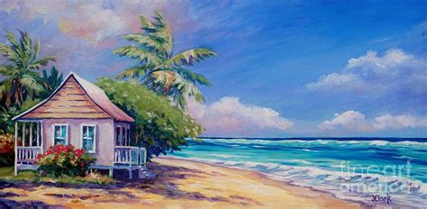 Seaside Cottage Plans Cottage On The Beach Painting By John Clark