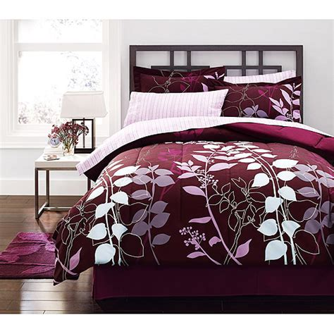 comforter sets at walmart hometrends orkaisi bed in a bag bedding set walmart com