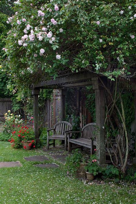 garden nook arbor outdoors pinterest