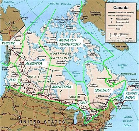 map usa canada map of united states and canada with states