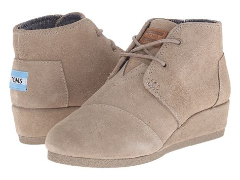 kid toms shoes toms desert wedge bootie shoes