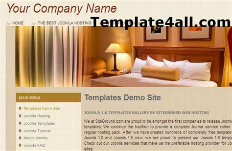 free brown vintage jquery joomla theme template
