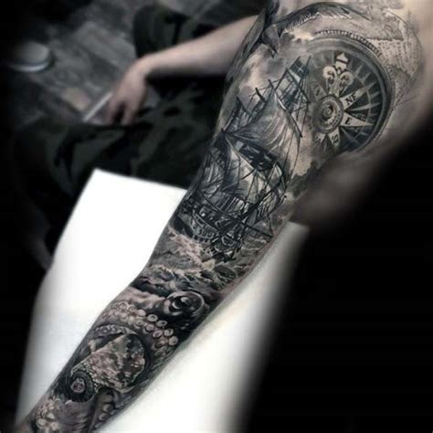 boat tattoos for men 40 nautical sleeve tattoos for seafaring ink deisgn