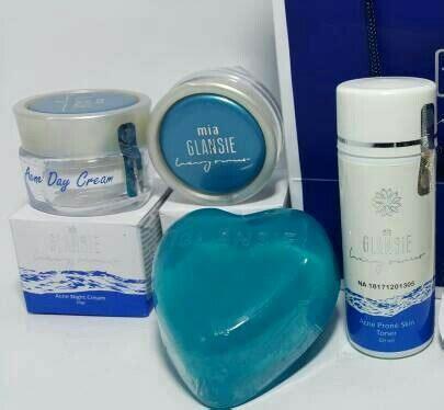 Pemutih Wajah Glansie jual glansie luxury anti acne perawatan wajah