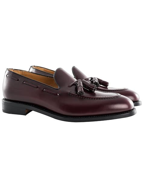 fringed loafers berwick 1707 burgundy tassel fringed loafers