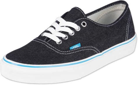 Sepatu Vans Authentic Black White Insole Black vans authentic shoes denim black white