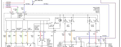 power window wiring schematic