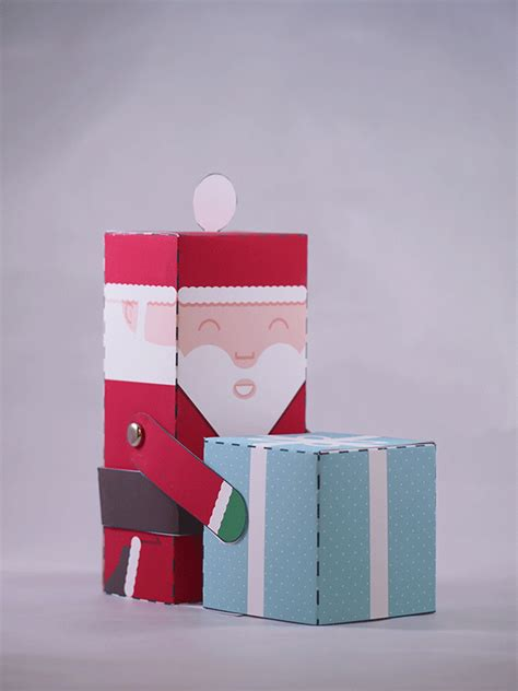 Santa Claus Paper Craft - santa claus puppet automata free papercraft