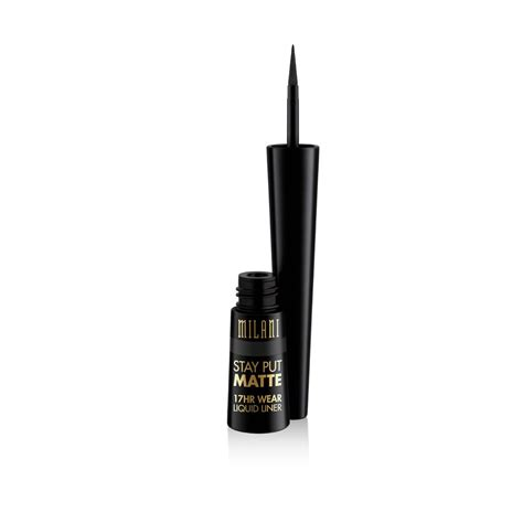 Eyeliner Matte stay put matte 17hr wear liquid eyeliner milani cosmetics