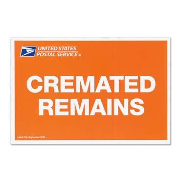 cremated remains label uspscom