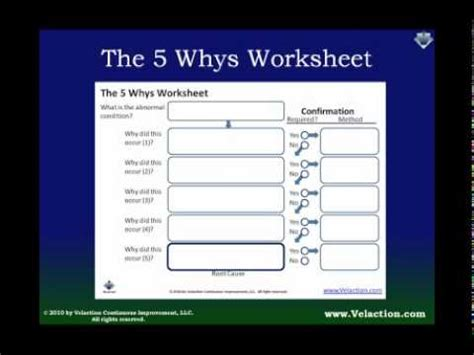 5 whys template free using the 5 whys worksheet