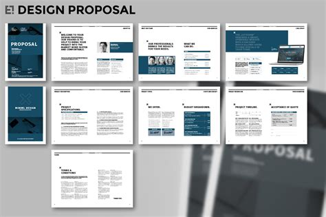 design proposal elements design proposal brochure templates on creative market