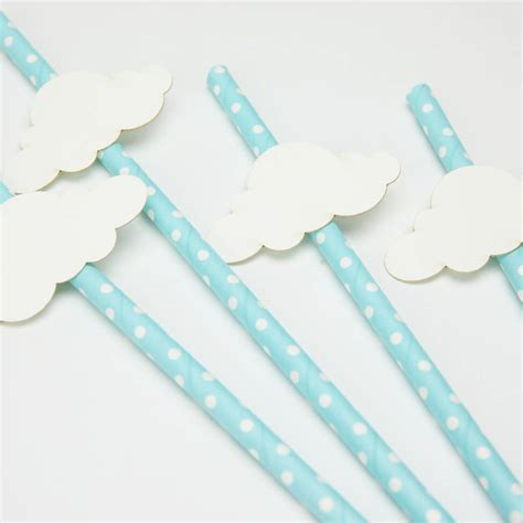 baby shower straws baby shower cloud straws by postbox