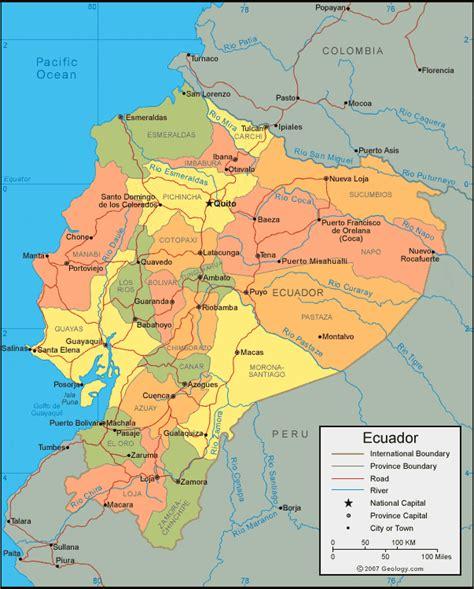 ecuador on map ecuador map and satellite image