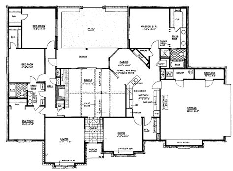 the 22 best ranch home floor plans 4 bedroom house plans