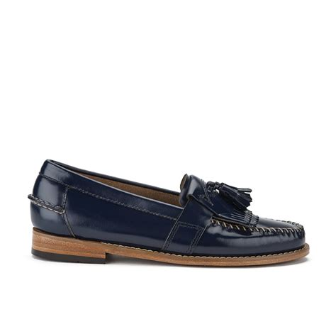 bass shoes womens bass weejuns s elspeth kiltie leather loafers navy